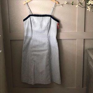 NWT- Isaac Mizrahi seer sucker pin stripe dress.